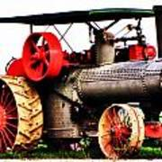 Steam Engine Tractor  Poster