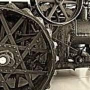 Steam Power Monochrome Poster