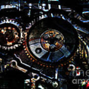 Steampunk Personal Decompression Chamber Model 39875da78803 Fully Accessorized Poster