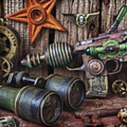 Steampunk Still Life Poster