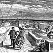 Steamships: Deck, 1870 Poster