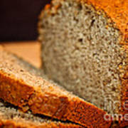 Steamy Fresh Banana Bread Poster by Susan Herber