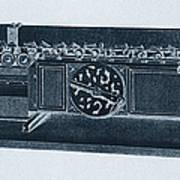 Step Reckoner, Leibniz Mechanical Poster