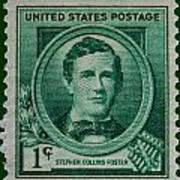 Stephen Collins Foster Postage Stamp Poster