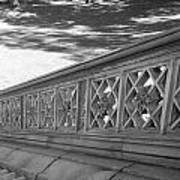 Steps Of Central Park In Black And White Poster