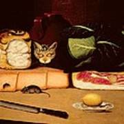 Still Life With Cat And Mouse Poster