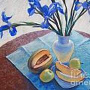 Still Life With Irises. Poster by Ekaterina Gomol