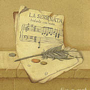 Still Life With Sheet Music Poster