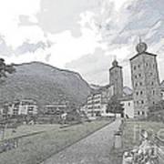 Stockalper Castle Poster