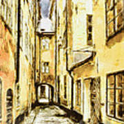 Stockholm Old City Poster by Yury Malkov