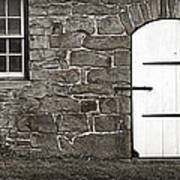 Stone Barn Window Cathedral Door Poster