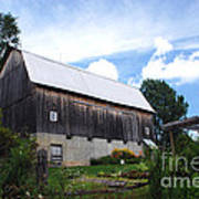Stone Cottage Barn Poster