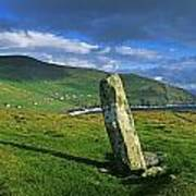 Stone On A Landscape, Ogham Stone Poster