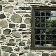 Stone Wall With A Window Poster