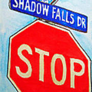 Stop Sign Sketchbook Project Down My Street Poster