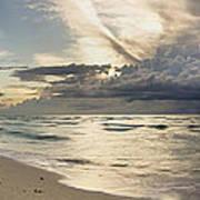 Storm Approaches Miami Beach Poster by Matt Tilghman