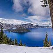 Storm Clearing At Crater Lake Poster