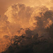 Storm Clouds Gather Over The Badlands Poster