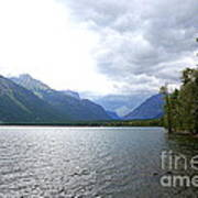 Storm Clouds Over Lake Mcdonald Poster