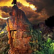 Storm On Buckhorn Mountain Poster by Ric Soulen