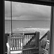 Storm-rocked Beach Chairs Poster