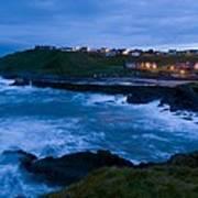 Stormy Coast, Scotland Poster