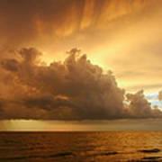 Stormy Gulf Coast Sunset Poster by Matt Tilghman