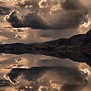 Strange Clouds Reflected Poster