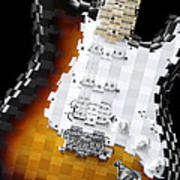 Classic Guitar Abstract 2 Poster