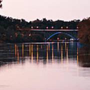 Strawberry Mansion Bridge At Dusk Poster