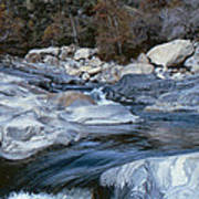 Stream Flowing Through The Rocks Poster