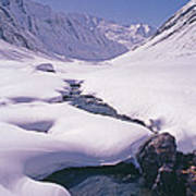 Stream In Warwan Valley Poster