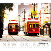 Street Cars On Canal Street Poster