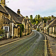 Street In Castle Combe Poster