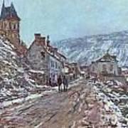 Street In Vetheuil In Winter Poster