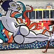 Street Life Rio De Janeiro Poster by Joe Rondone