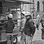 Street Photography - Picking Up Lunch Poster