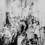 Street Scene In Athens Greece - C 1919 Poster