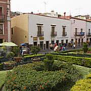 Street Scene In Plaza De La Paz Poster