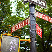 Street Signs In Nyc Poster