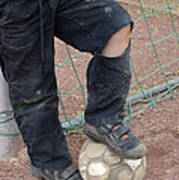 Street Soccer - Torn Trousers And Ball Poster