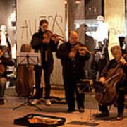 Street String Quartet Poster