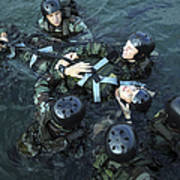 Students Secure A Simulated Casualty Poster