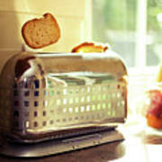 Stylish Chrome Toaster Popping Up Toast Poster by Kelly Sillaste