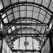 Subway Glass Station In Black And White Poster