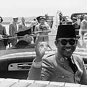 Sukarno, President Of Indonesia Poster by Everett