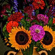 Summer Flower Bouquet Poster