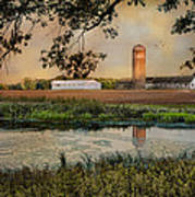 Summer Silo Reflection Poster