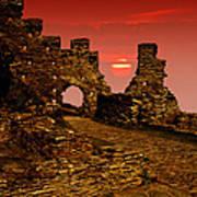 Sun Set Castle Poster