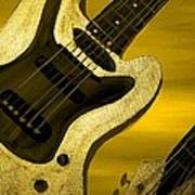 Sun Stained Yellow Electric Guitar Poster